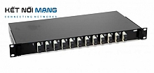 AMP Fiber Optic Rack Mount Patch Enclosure, 1U, Duplex SC, 24-Fiber, MM (FOENC 1U MM 12 SC/PC BLACK 300 SLIDING)