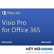 Bản quyền phần mềm Microsoft Visio Online Plan2 Open ShrdSvr Sngl SubscriptionVL OLP 1License NoLevel Qualified Annual