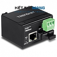 Hardened Industrial 100Base-FX Single-Mode SC Fiber Converter (30 km, 18.6 mi.)