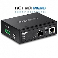 Hardened Industrial 100/1000  Base-T to SFP Media Converter