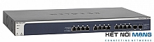 Thiết bị chuyển mạch NETGEAR XS708E 8-port ProSAFE 10-Gigabit Ethernet Web Managed (Plus) with 1 Copper/SFP+ Combo PortNETGEAR XS712T ProSAFE 10-Gigabit Ethernet Smart Switch