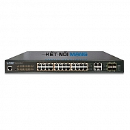 Thiết bị chuyển mạch planet 24-Port 10/100/1000T 802.3at PoE + 4-Port Gigabit TP/SFP Combo Managed Switch