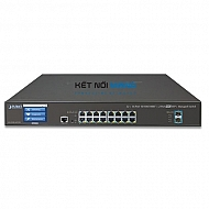 Thiết bị chuyển mạch planetL2+ 16-Port 10/100/1000T + 2-Port 10G SFP+ Managed Switch with LCD touch screen
