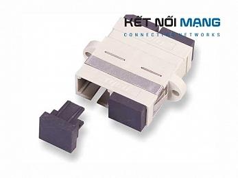 AMP Fiber Optic Coupler, Duplex SC, SM (RECEPT, SCDUP, SM, BE, PHOSBRS)