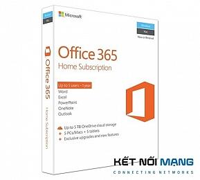 Bản quyền phần mềm Office 365 Home English APAC EM Subscr 1YR Medialess P2