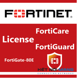 Bản quyền phần mềm 1 Year Unified (UTM) Protection (8x5 FortiCare plus Application Control, IPS, AV, Web Filtering and Antispam, FortiSandbox Cloud) for FortiGate-80E