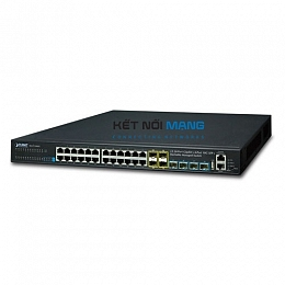 Thiết bị chuyển mạch planet Layer 3 24-Port 10/100/1000T + 4-Port 10G SFP+ Stackable Managed Switch